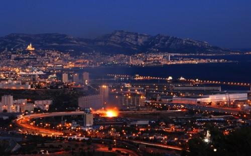 Night view in Marseille