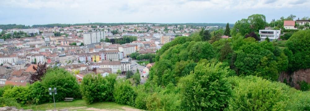 Epinal, Blick auf die Stadt
