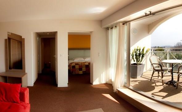 Hotel Alysson - terraza de la suite