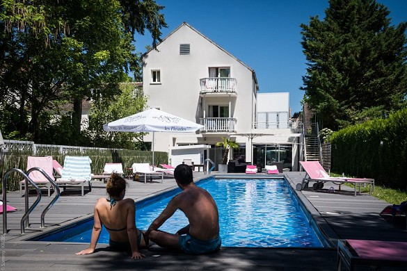 Les pléiades hotel and spa restaurant - outdoor swimming pool