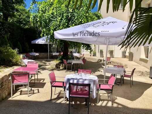 Les pleiades hotel and spa restaurant - terrace