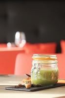 Bio-Pastinaken-Lauch-Suppe, Hackfleisch mit grünem Pfeffer