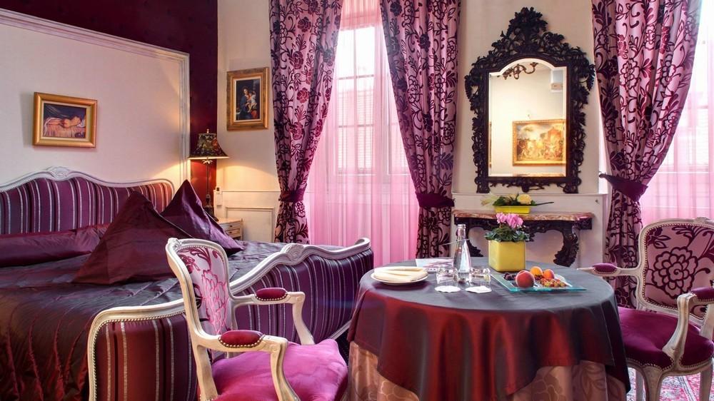 Hostellerie le Marechal - stanza viola