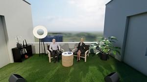 Rooftop virtual meeting