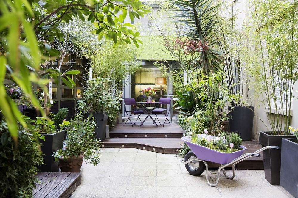 Purple villa - courtyard