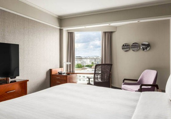 Centro congressi dell'hotel Paris Marriott Left Bank - camera deluxe