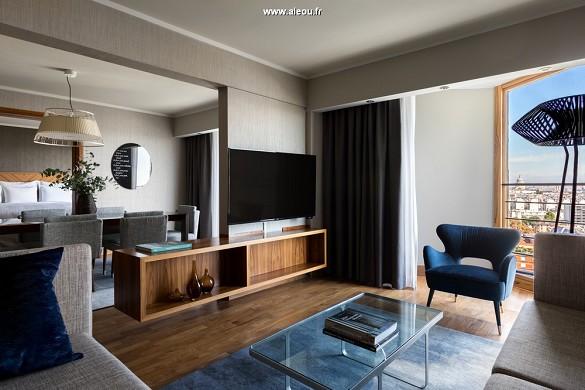 Paris marriott linkes Bankhotelkonferenzzentrum - Champagner-Suite