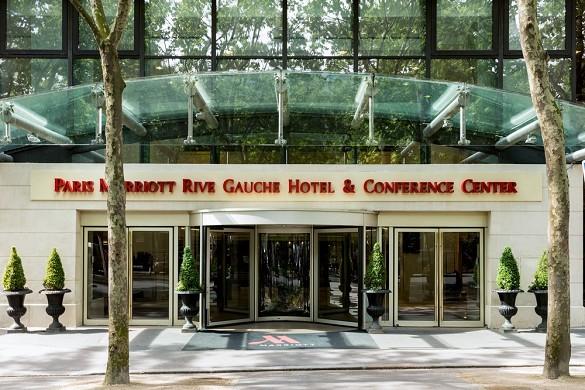 Paris Marriott verließ Bankhotelkonferenzmitte - Eingang