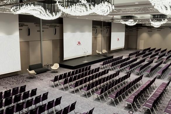 Paris marriott verließ Bankhotelkonferenzmitte - Bühne