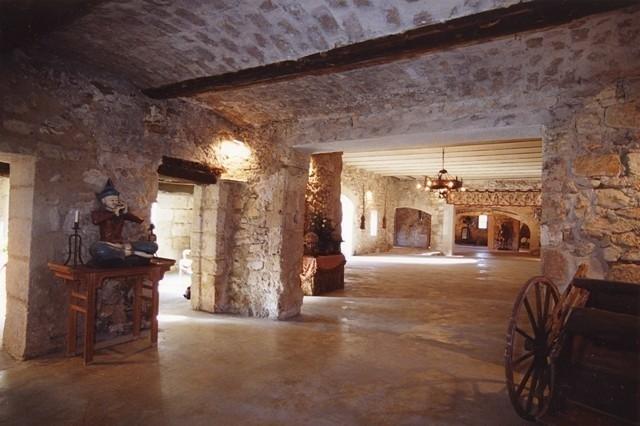 Castle of pouget - inside