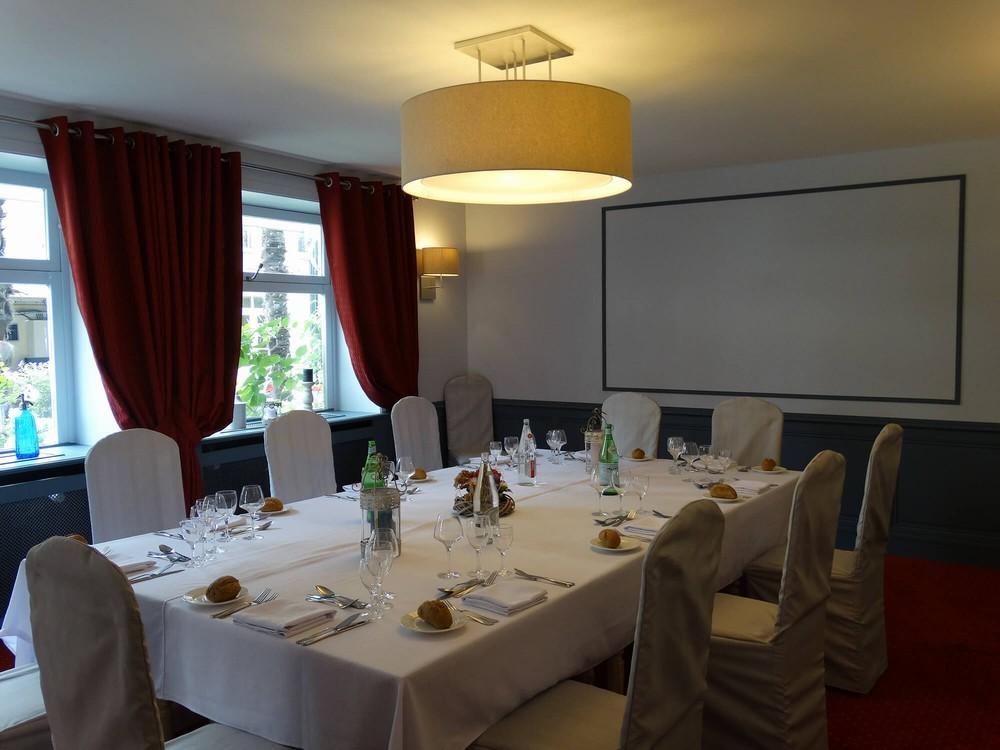 Hotel Lion of Gold Bayeux und sein Restaurant der Tisch des Löwen - private Lounge