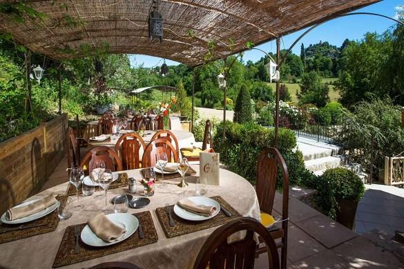 The St Lazare campaign Luberon - terrace