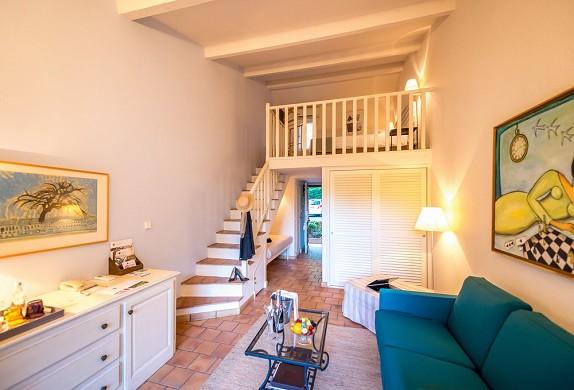 Restaurante y spa del hotel Cantemerle - habitación dúplex de 40m2