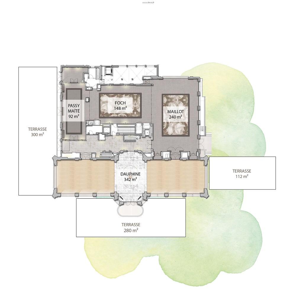 Pavillon Dauphine saint clair - planimetrie del padiglione dauphine