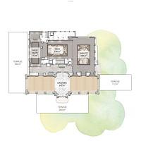 Piano delle lounge del padiglione Dauphine