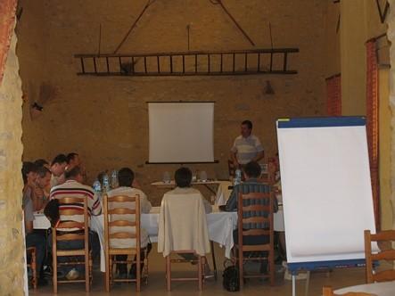 Seminario de la organización de la granja de la cosecha y de la cosecha.