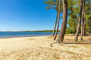 Private beach with access to the marine lake