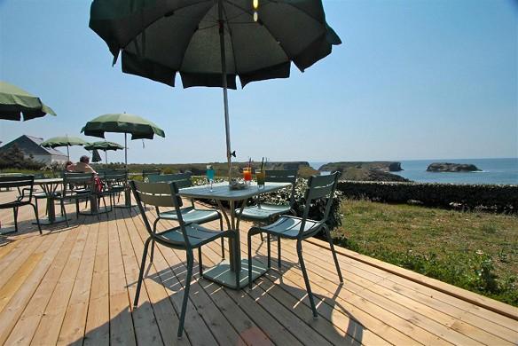El mar abierto de belle-ile-en-mer - terraza