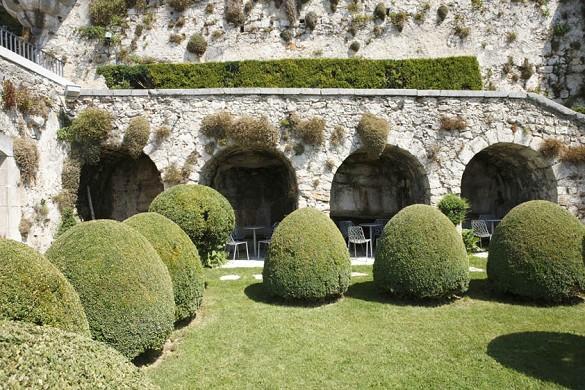 Chateau de Gourdon Garten