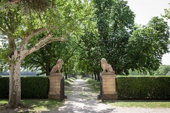 Alphéran castle - entrance