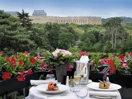 Trianon palace versailles, un hotel waldorf astoria: vista desde el dormitorio