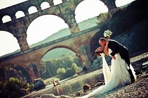 Boda en el puente de Gard - v. fórmica