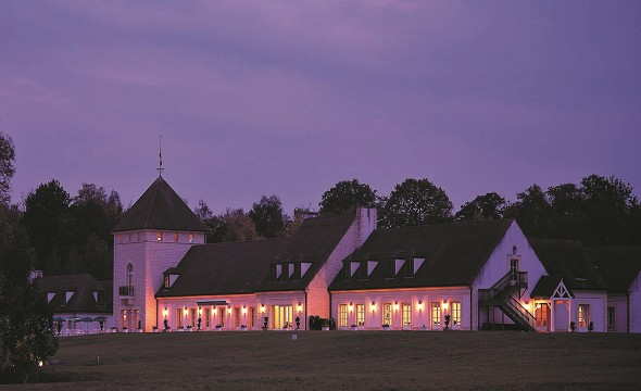 Exclusive golf domaine d'Apremont - in the evening