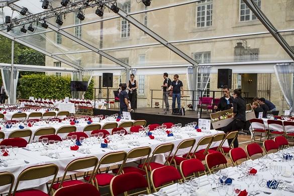 Chateau d'Auvers - gala tent