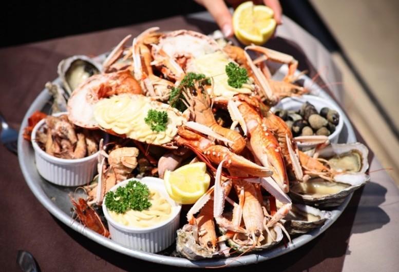 Hotel restaurant la rancaillere - shellfish dish