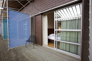 Residence con terrazza camera da letto xvf