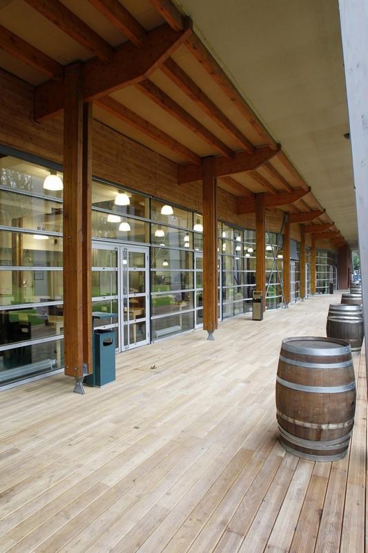 Centro nazionale di rugby - terrazza del ristorante