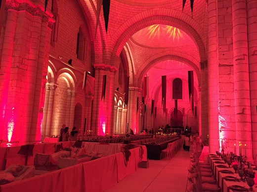 Royal Abbey of Fontevraud - organization of events