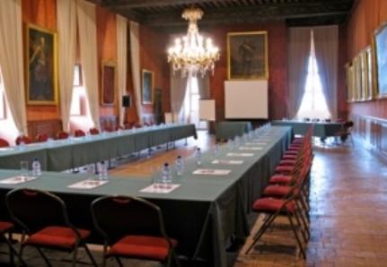 Castle Brissac - reception in u