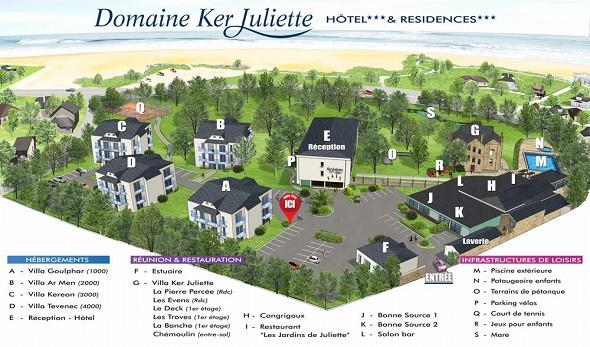 Domaine ker juliette - site map