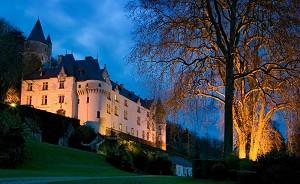 Chateau De Chissay - Vista noturna