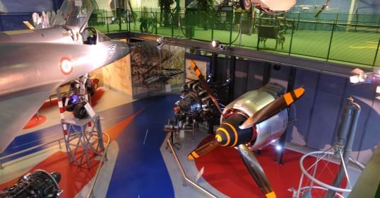 Museo aeronautico e spaziale di zafferano - vista della collezione