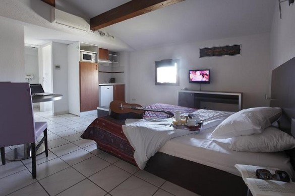 Adonis carcassonne - residence la barbacane - dormitorio