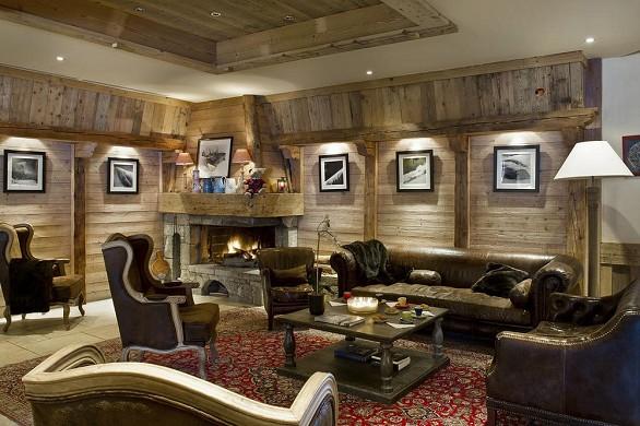 Hotel beauregard la clusaz - living room