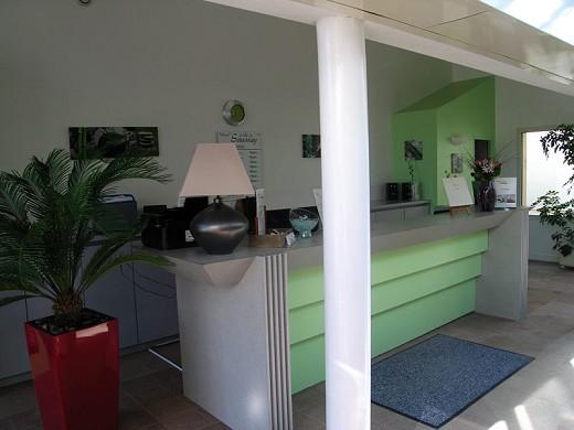 Hotel auf der Insel saussay - Empfang
