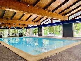 Indoor swimming pool open year round and heated