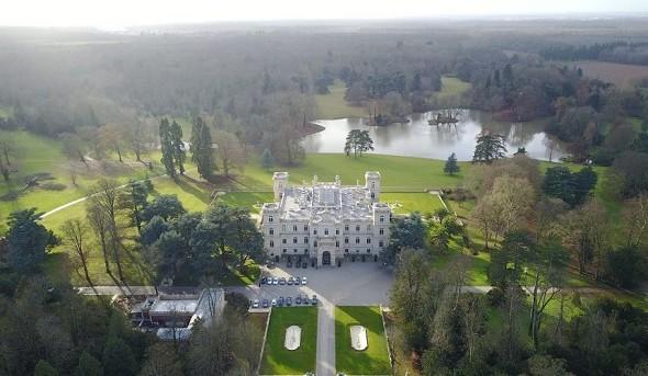 Ferrières Castle - Blick auf die Drohne
