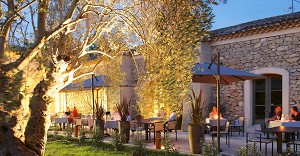 The terrace for professional lunches and dinners