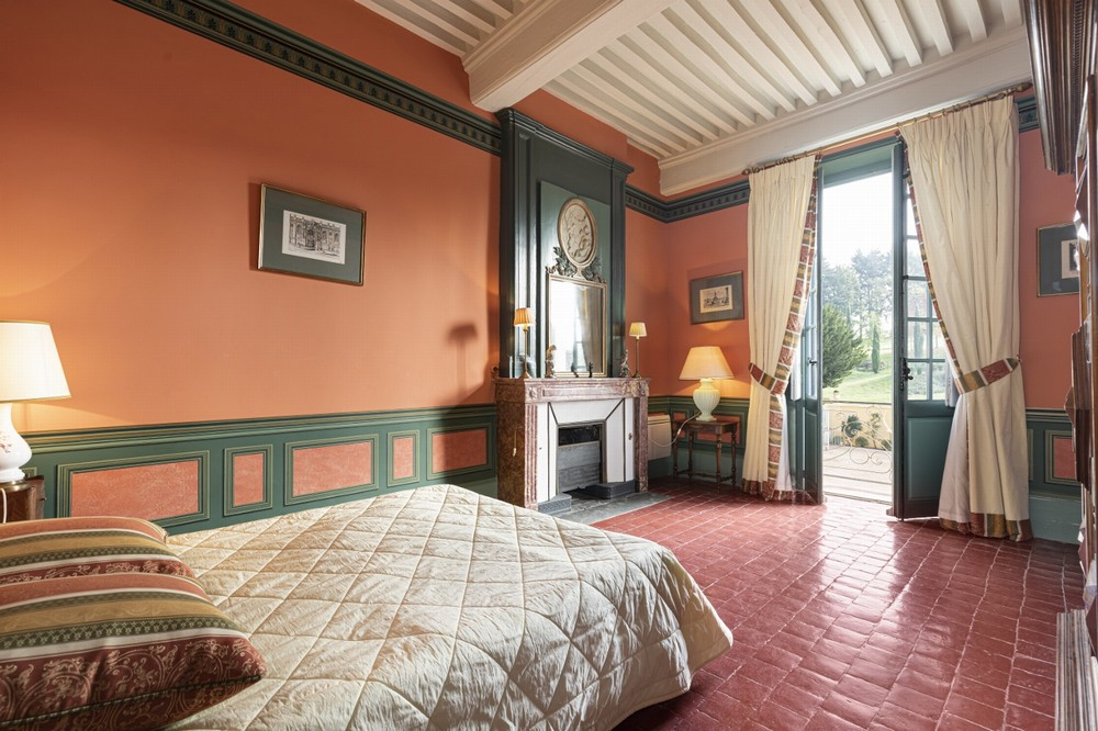 Chateau de Chavagneux - dormitorio