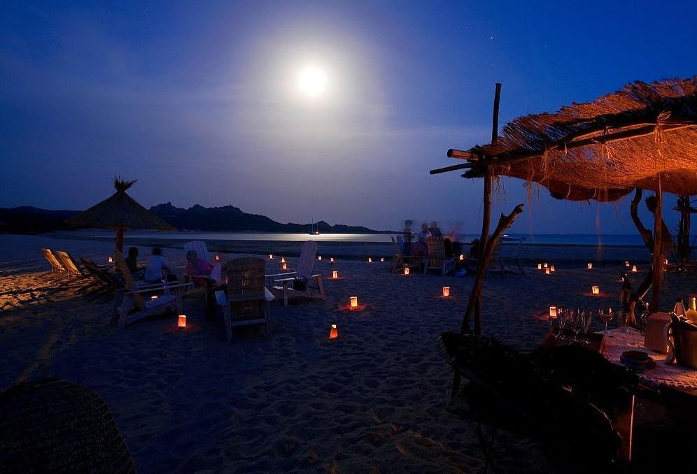 Domaine de Murtoli - spiaggia di sera