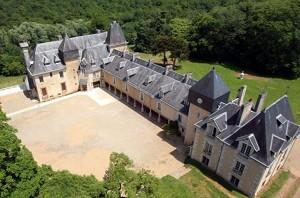 Château de la Mothe in Poitou - Front