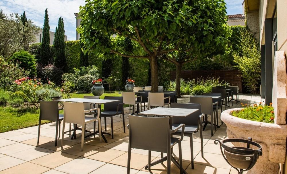 Grand hotel di Avignone - terrazza