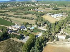 Das Bauernhaus der Brücke, Luftbild