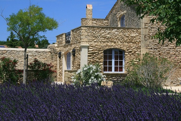 Domaine des escaunes - the stunning stone façade of the terret room