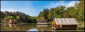 Domaine de l'Etang de Bazange - the pond and its unusual accommodations