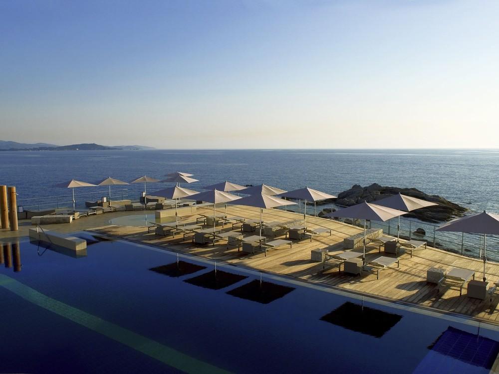Sofitel Golf von Ajaccio Thalassa Meer und Spa - Terrasse mit Meerblick